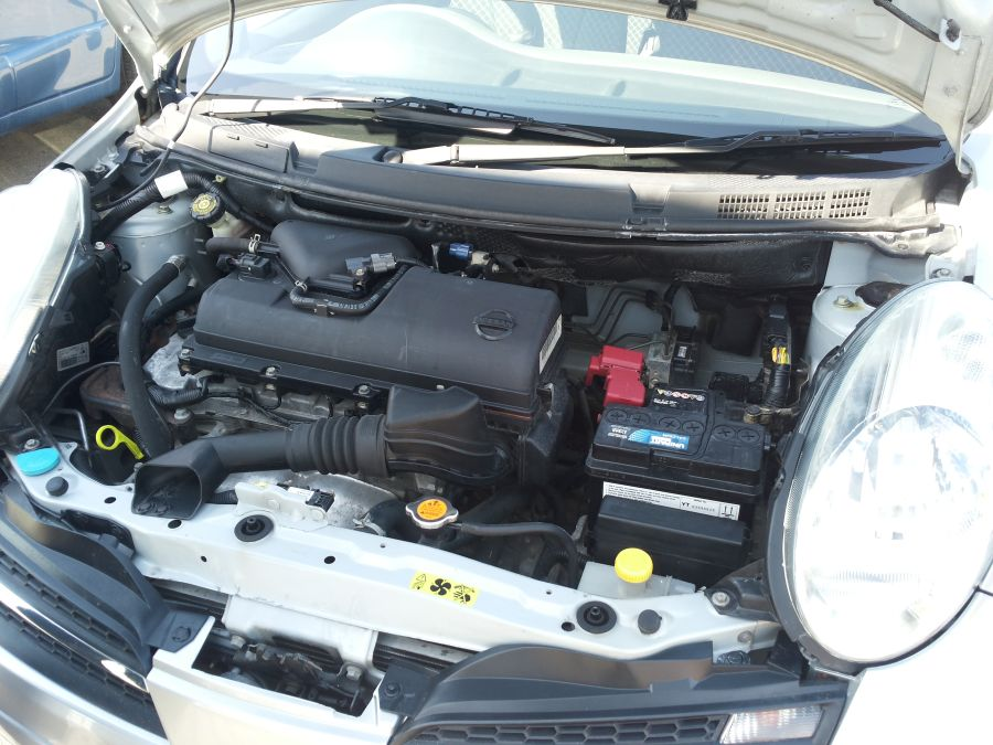 Nissan Micra engine bay