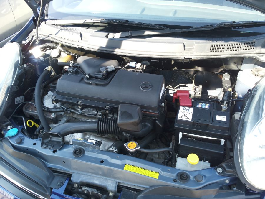 engine bay of Nissan Micra for sale Limassol Cyprus